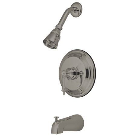 Volume Control Tub and Shower Faucet with Tampleton Lever Handles by Elements of Design