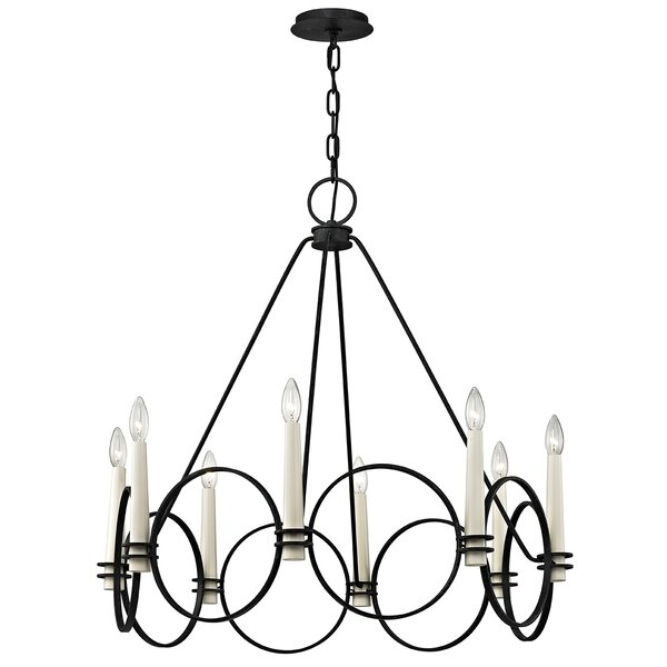 Margarito 8-Light Candle Style Wagon Wheel Chandelier by Gracie Oaks Gracie Oaks