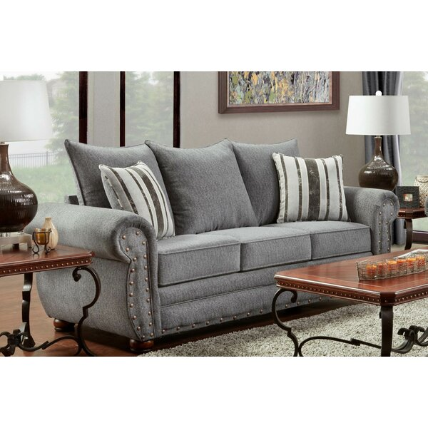 Conradine Platinum Stripe Sofa by Darby Home Co