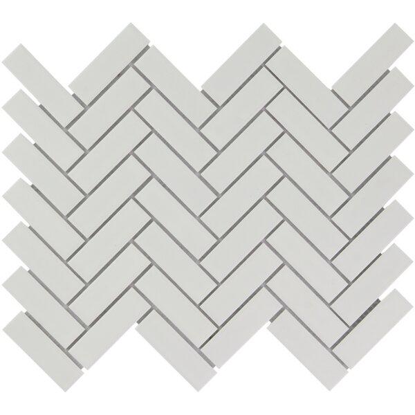Paris 1 x 3 Porcelain Mosaic Tile in Matte White by The Mosaic Factory