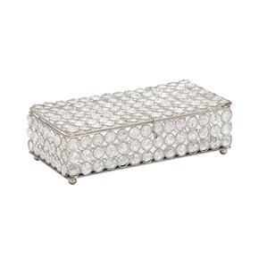 Metal Crystal Jewelry Box by Cole & Grey