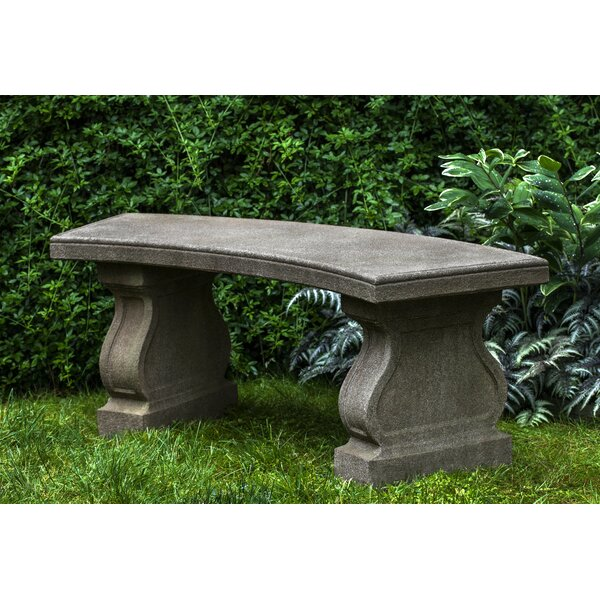 Zimelman Cast Stone Garden Bench by Astoria Grand