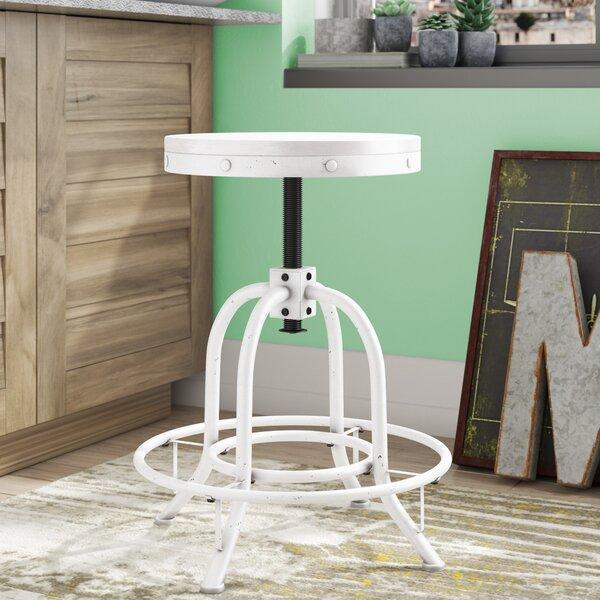 Alessia Adjustable Height Swivel Bar Stool By Trent Austin Design