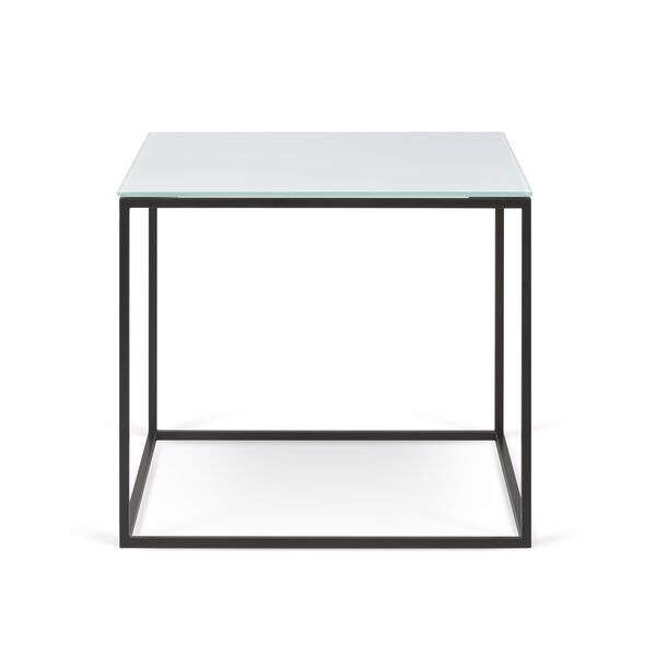 Soltane Glass End Table by Brayden Studio