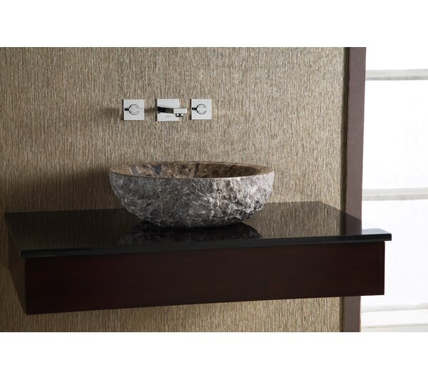 Marble Stone Circular Vessel Bathroom Sink