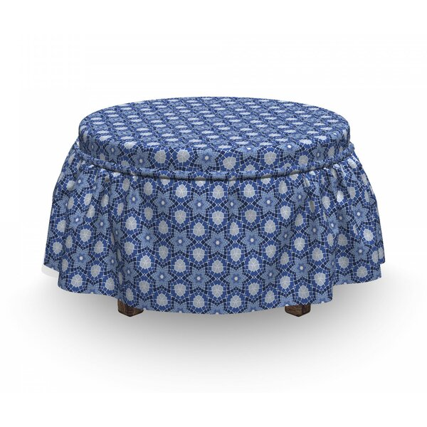 Mosaic Effect Eastern Tile Ottoman Slipcover (Set Of 2) By East Urban Home