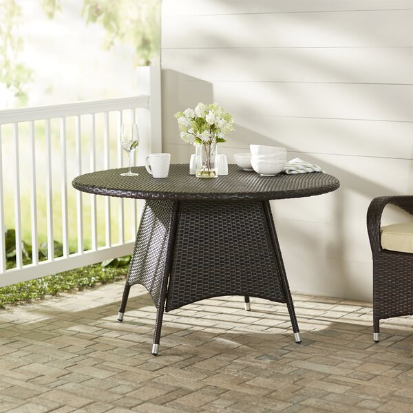 Andujar Wicker Bistro Table by Brayden Studio