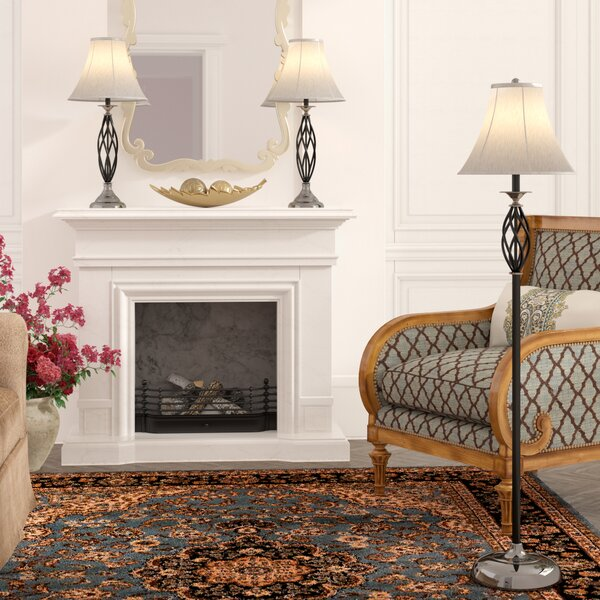 Dunrobin 3 Piece Table and Floor Lamp Set by Andover Mills