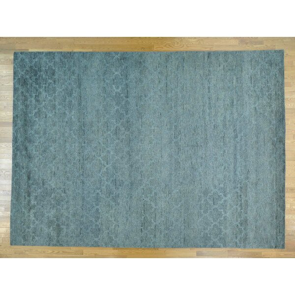 One-of-a-Kind Beard Plush Handwoven Grey Wool Area Rug by Isabelline