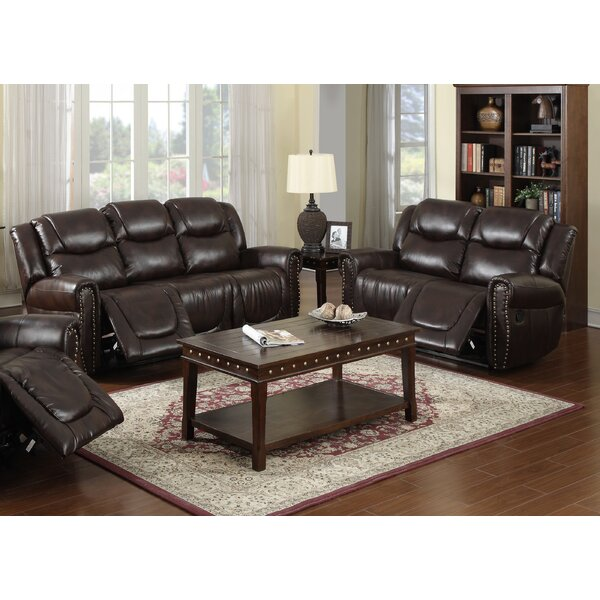 Marsh Island Reclining  2 Piece Leather Living Room by Red Barrel Studio
