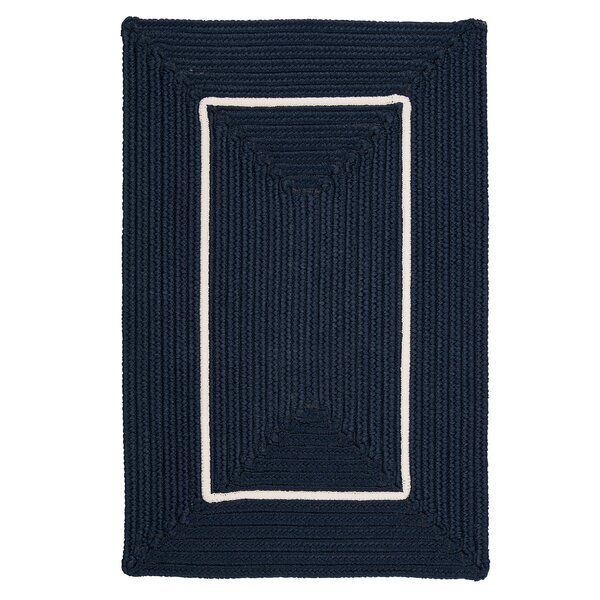 Otis Border in Border Braided Navy Indoor/Outdoor Area Rug by Bay Isle Home Bay Isle Home