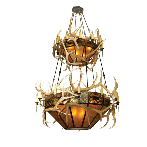 Gaddis 40 - Light Unique / Statement Geometric Chandelier With Antler Accents By Loon Peak