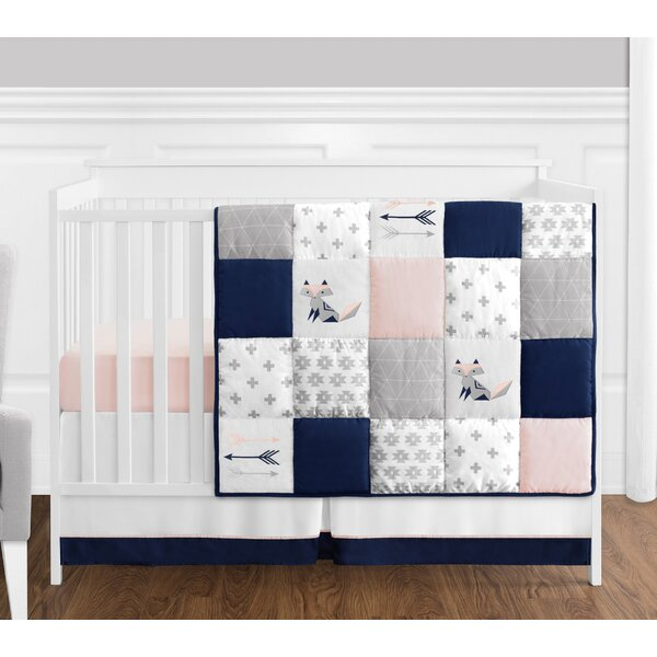 Fox Patch 4 Piece Crib Bedding Set by Sweet Jojo Designs