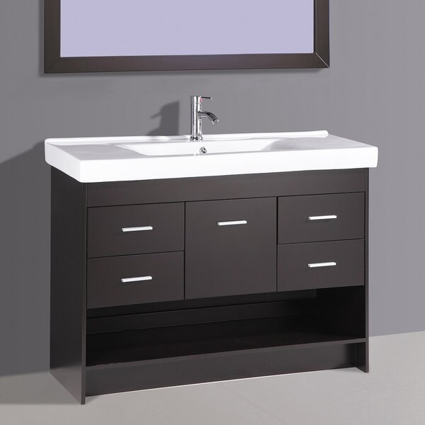 Oona 48 Single Vanity Set with Mirror by Orren Ellis
