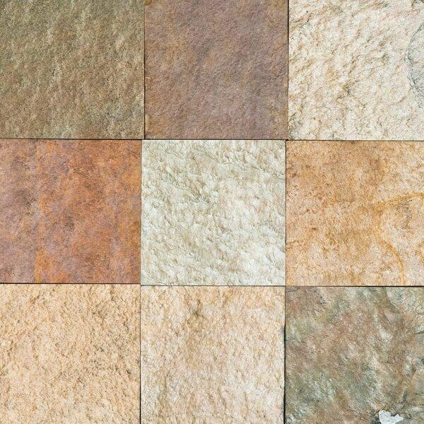Eldorado Natural Cleft Face, Gauged Back 12x12 Slate Field Tile