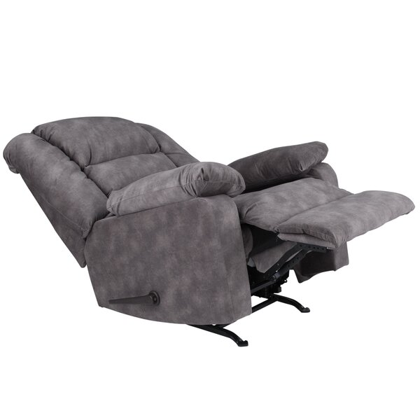 Caress Manual Recline Rocker Recliner by Red Barre