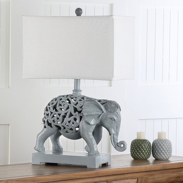 Hathi Sculpture 25.5 Table Lamp (Set of 2) by Safavieh