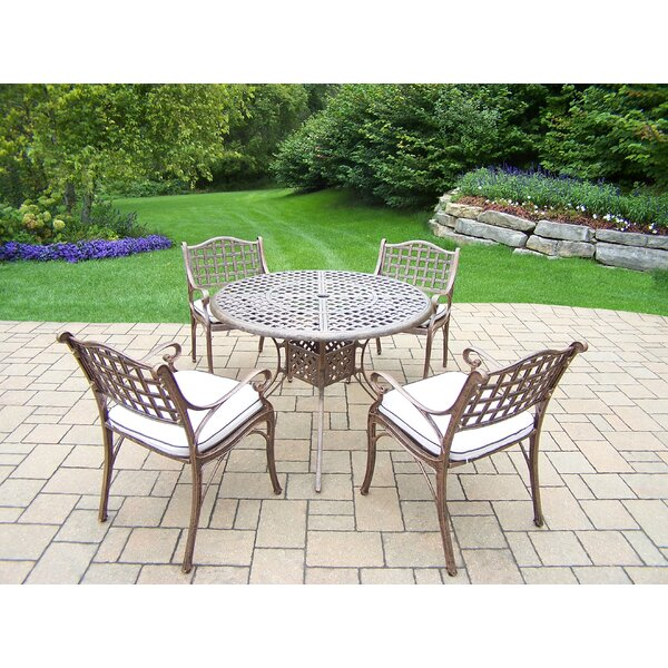 Thelma 5 Piece Aluminum Dining Set with Cushions by Astoria Grand