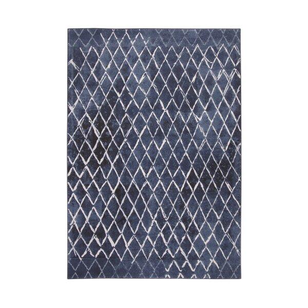 Wilken Blue/Ivory Area Rug by Brayden Studio