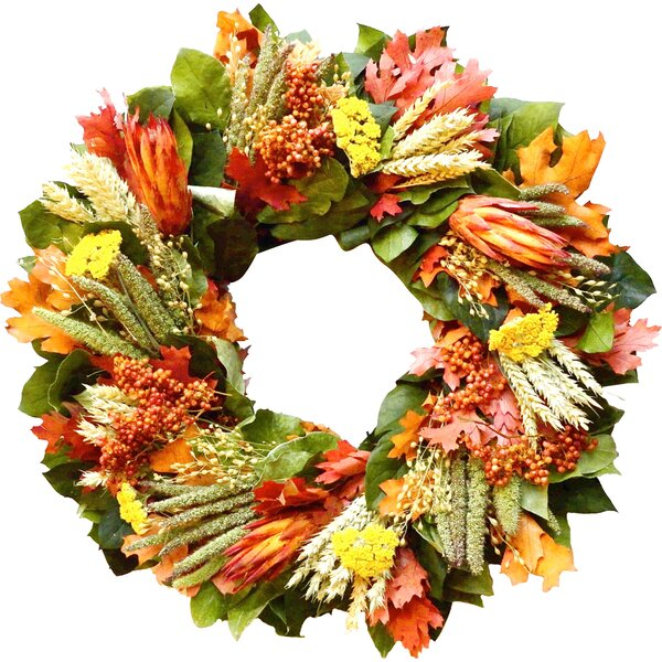 Colorful Fall Wreath by Dried Flowers and Wreaths LLC