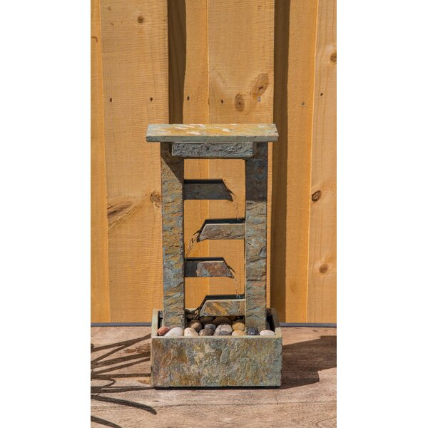 Natural Stone Mason Table Fountain with Light by Wildon Home ®
