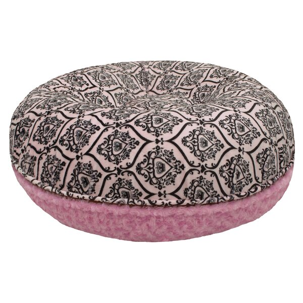 Bubble Gum Bagel Bolster Dog Bed by Bessie and Barnie