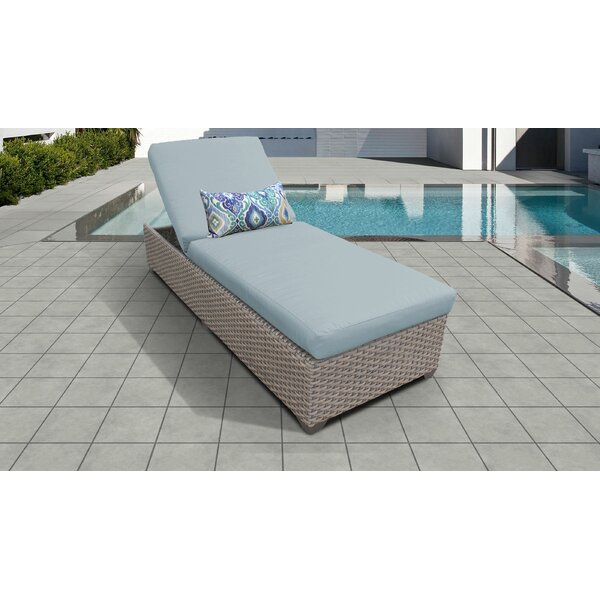 Rochford Outdoor Chaise Lounge with Cushion by Sol 72 Outdoor