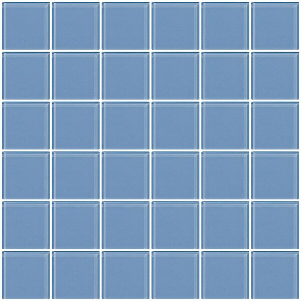 Bijou 22 2 x 2 Glass Mosaic Tile in Light Periwinkle Blue by Susan Jablon