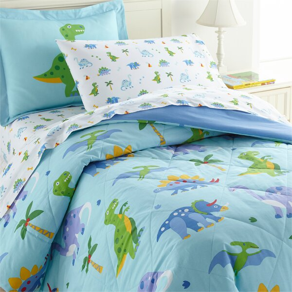 Dinosaur Land Cotton Comforter Set