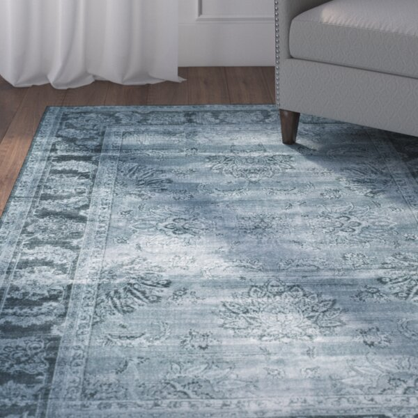 Oakfield Blue Area Rug by Three Posts