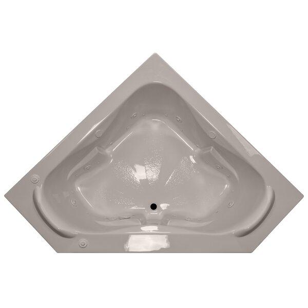 60 x 60 Corner Salon Spa Air/Whirlpool Tub with Raised Headrest by American Acrylic