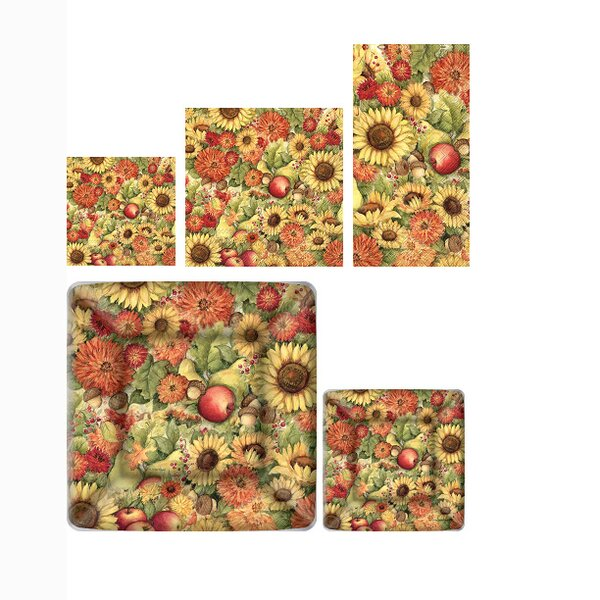Flower and Fruit 5 Piece Paper Dinner Set by Boston International
