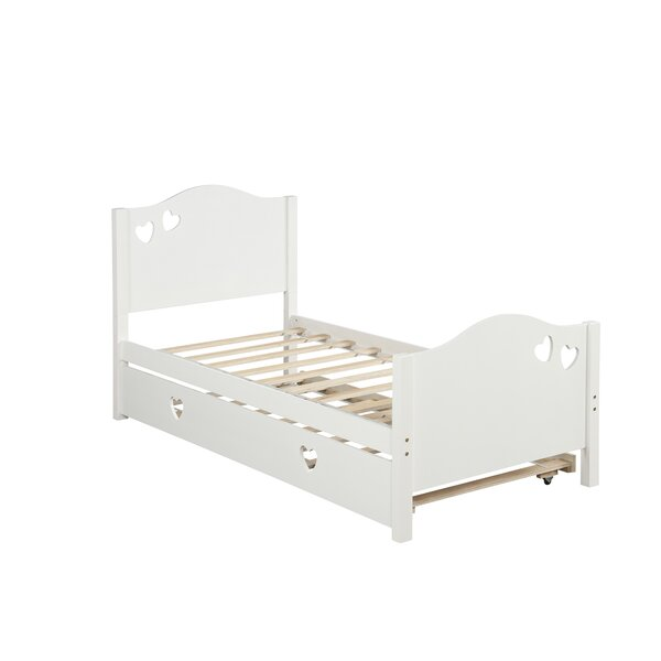 Essence Twin Panel Bed with Trundle (Set of 2) by Harriet Bee