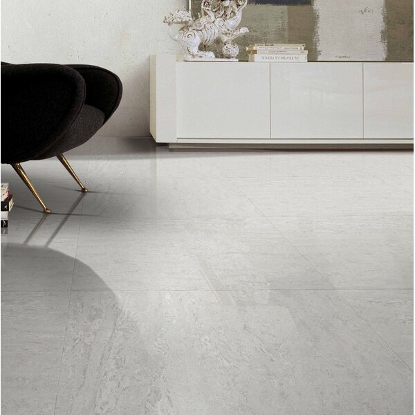 Navona Polished 24 x 24 Porcelain Field Tile in White by Multile