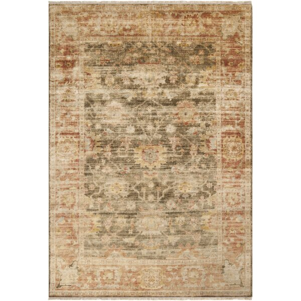 Eugen Beige/Brown Oriental Area Rug by Darby Home Co