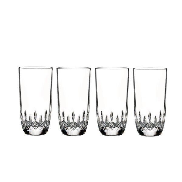 Lismore Encore 13 oz. Crystal Highball Glass (Set of 4) by Waterford