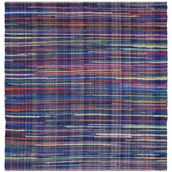Shatzer Hand-Woven Blue Area Rug by Wrought Studio