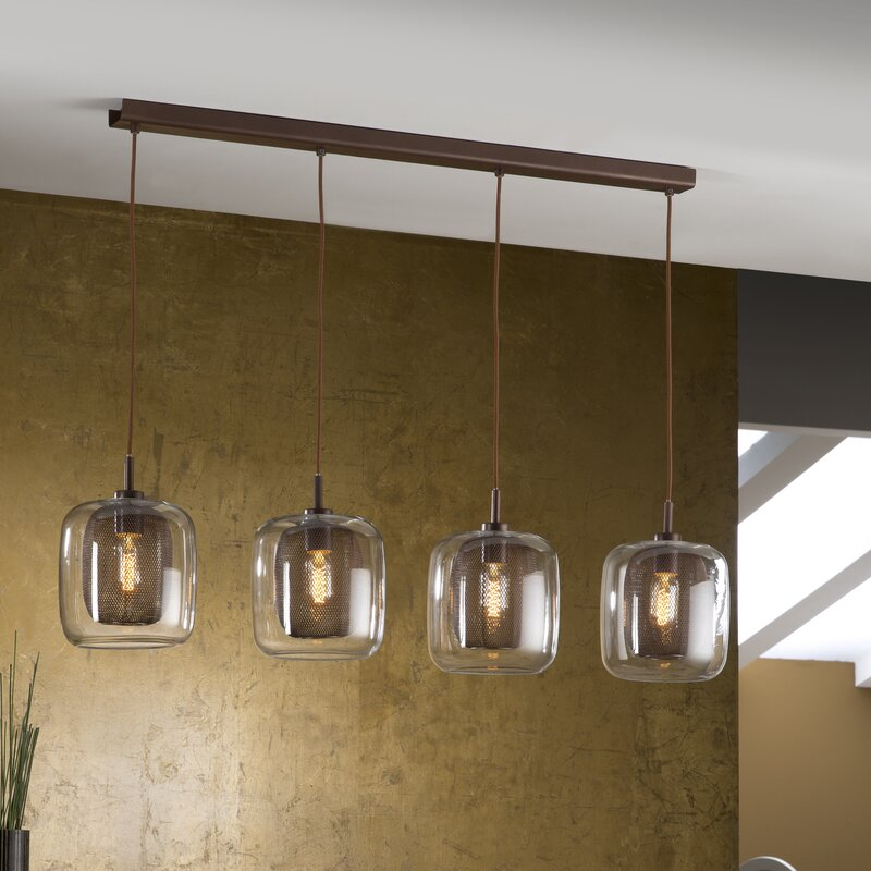 fox 4 light kitchen island pendant