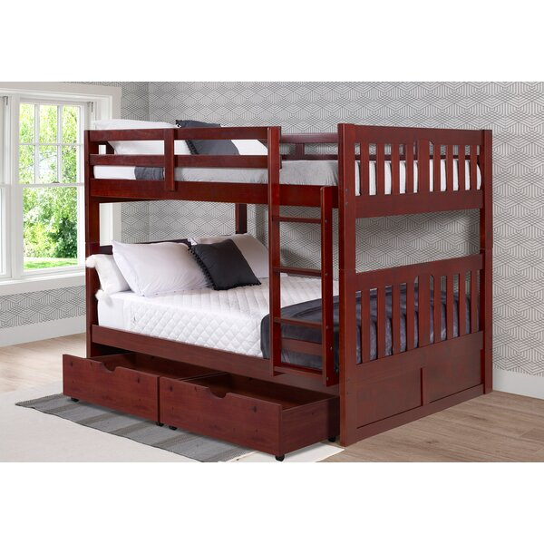 Dubbo Full Over Full Bunk Bed with Drawers by Harriet Bee