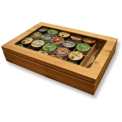 Bamboo Keurig K-Cup Organizer/Display Box by Vandue Corporation