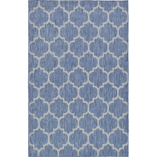 Harding Blue Outdoor Area Rug by Charlton Home