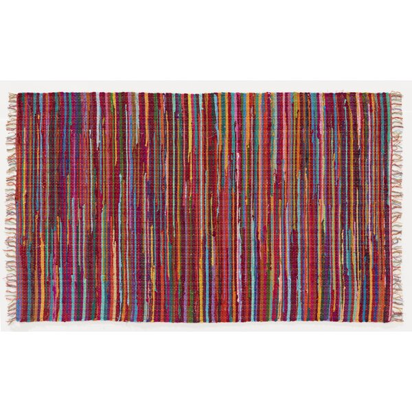 Mardi Gras Hand-Woven Red Area Rug by Home Furnishings by Larry Traverso