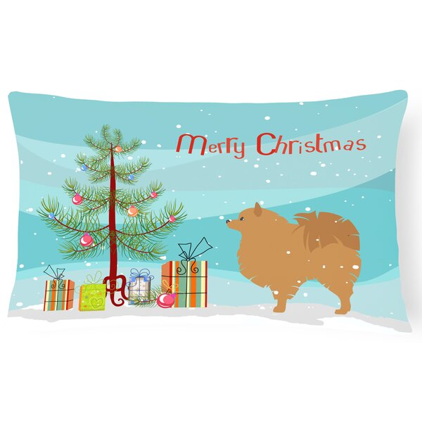 Pomeranian Indoor/Outdoor Lumbar Pillow by The Holiday Aisle