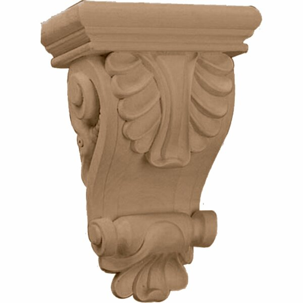 Acanthus 8 1/4H x 6W x 3 1/4D Thin Leaf Corbel in Lindenwood by Ekena Millwork