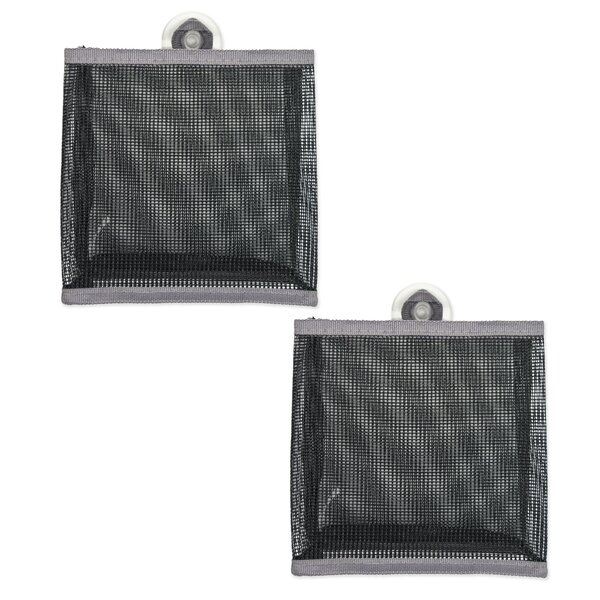 Mesh Bathroom Organizer Bag (Set of 2) by Design Imports