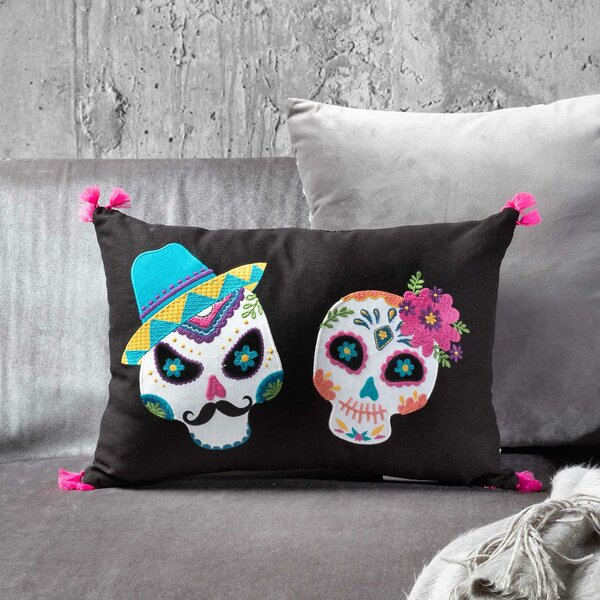 Mr. and Mrs. Sugar Skull Lumbar Pillow by The Holiday Aisle