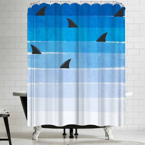 Sharks Shower Curtain by East Urban Home