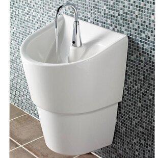 Read Reviews ICU Ceramic 20 Wall Mount Bathroom Sink with Overflow ByAmerican Standard
