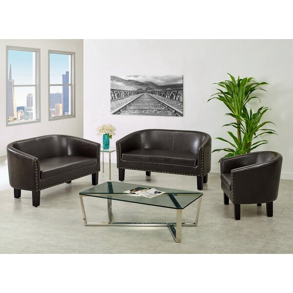 Isabel 3 Piece Living Room Set by Charlton Home Charlton Home