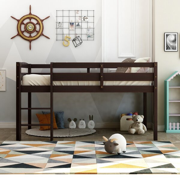 Merlyn Twin Low Loft Bed by Harriet Bee